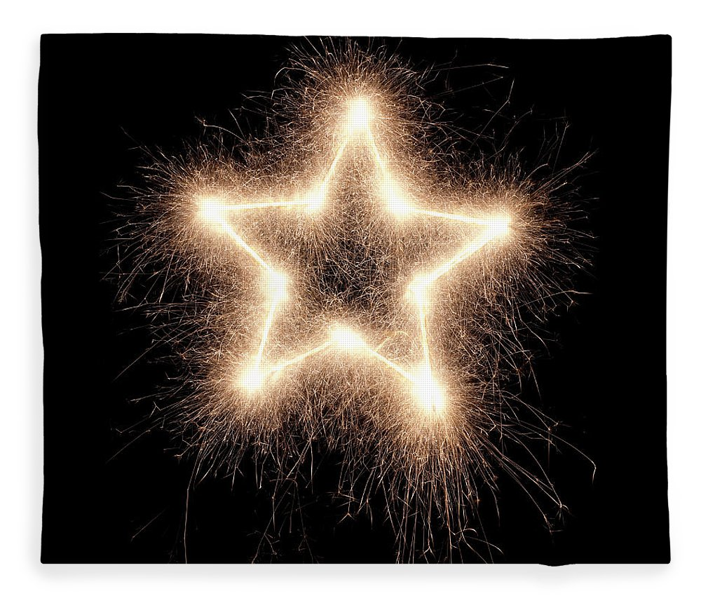 Holiday Fleece Blanket featuring the photograph Sparkling Star by Amriphoto
