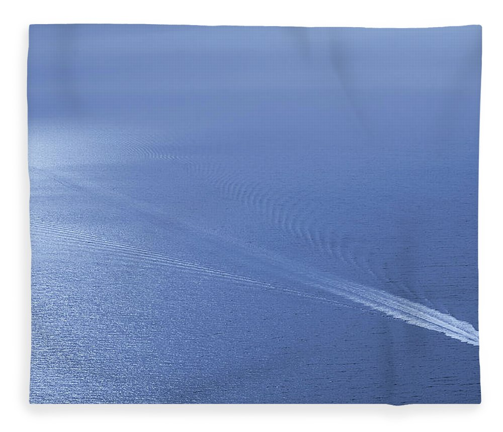 Scenics Fleece Blanket featuring the photograph Speedboat On The Sea by Nikada