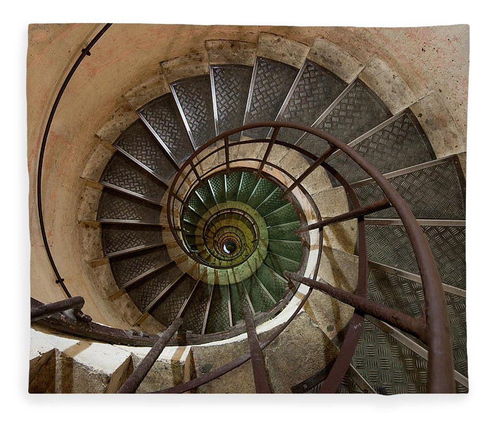 Built Structure Fleece Blanket featuring the photograph Spiral Staircase In The Arc De by Mint Images/ Art Wolfe