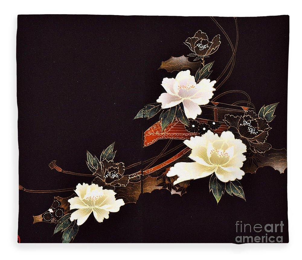 Fleece Blanket featuring the digital art Spirit of Japan H14 by Miho Kanamori