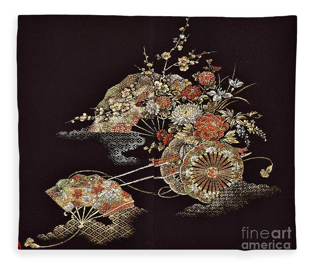 Fleece Blanket featuring the digital art Spirit of Japan H2 by Miho Kanamori