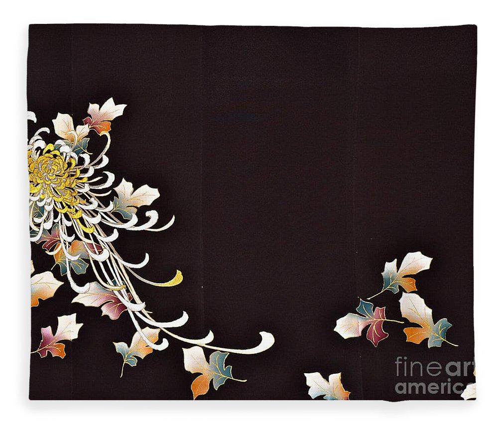 Fleece Blanket featuring the digital art Spirit of Japan T35 by Miho Kanamori