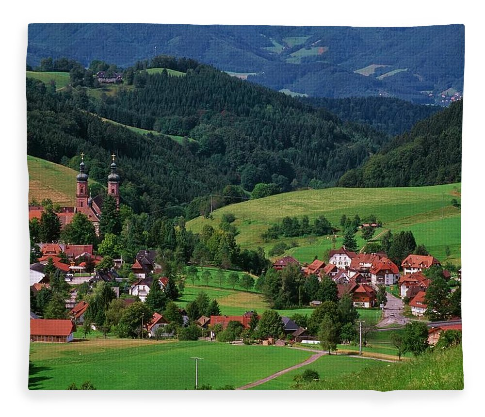 Architectural Feature Fleece Blanket featuring the photograph St. Peters Abbey, Black Forest, Germany by Bilderbuch  / Design Pics