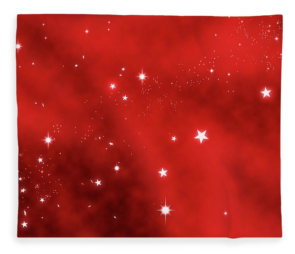 Holiday Fleece Blanket featuring the photograph Stars Background by Enter89