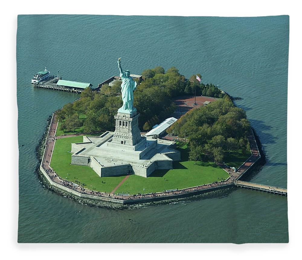 Shadow Fleece Blanket featuring the photograph Statue Of Liberty by Copyright Www.floridaphoto.com 305.235.7051