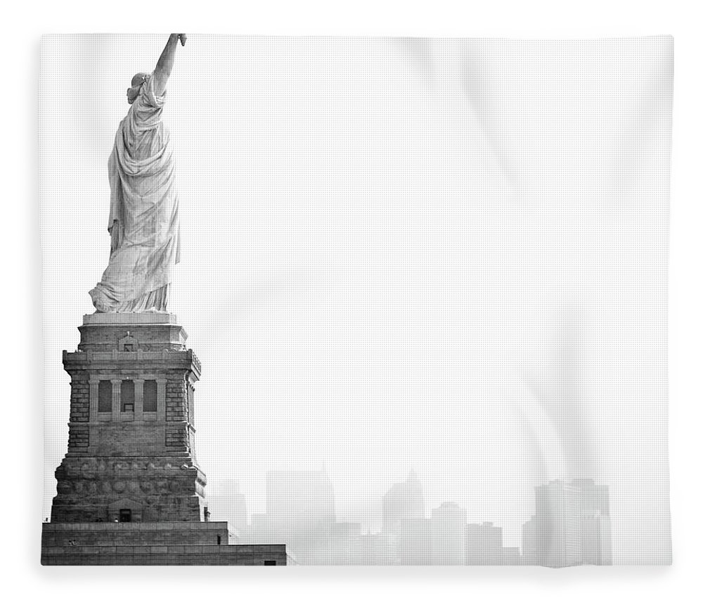 Statue Fleece Blanket featuring the photograph Statue Of Liberty by Image - Natasha Maiolo