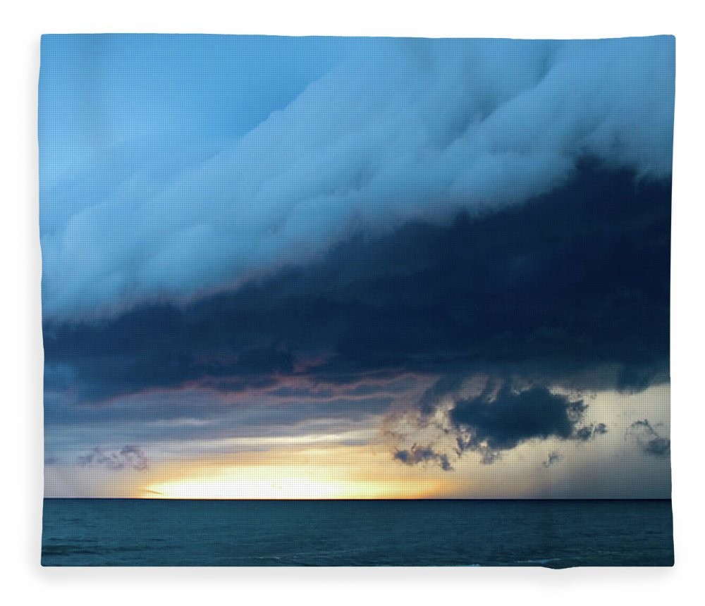 Water's Edge Fleece Blanket featuring the photograph Storm Cell by Djphotography