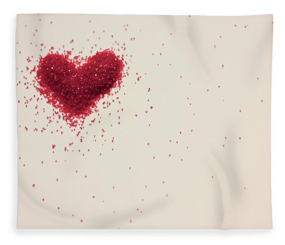 Art Fleece Blanket featuring the photograph Sugar Heart by Amy Weekley