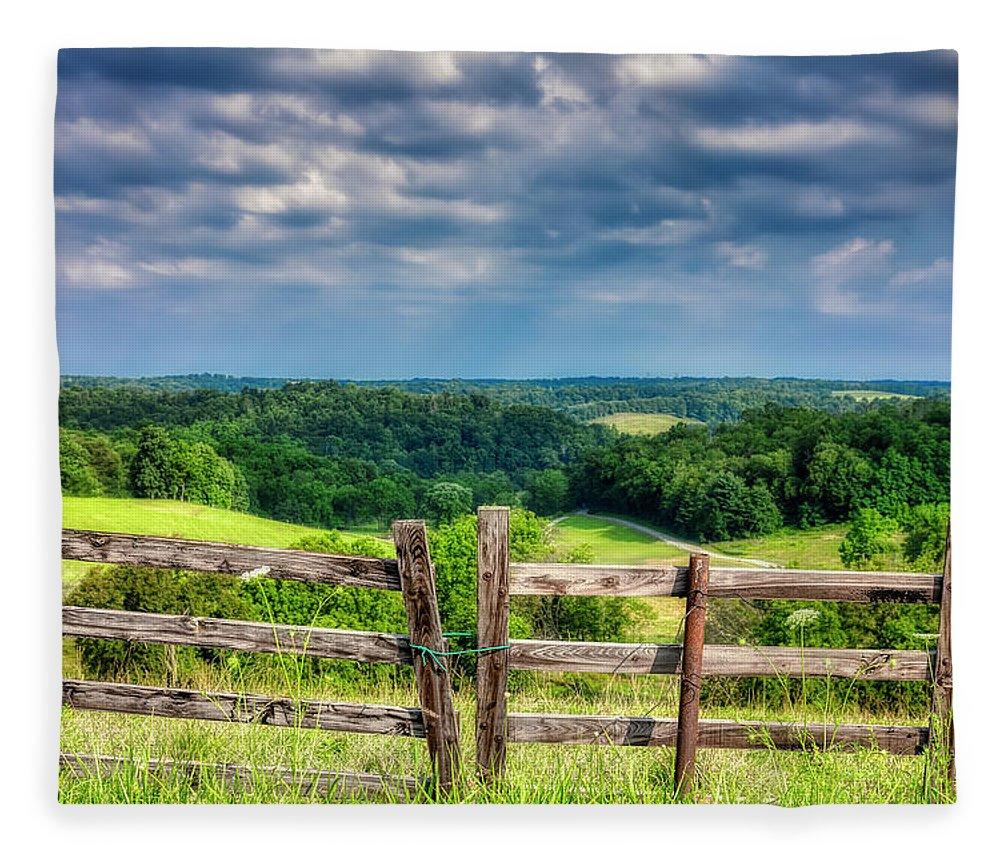 Blue Fleece Blanket featuring the photograph Summer Vista by Tom Mc Nemar