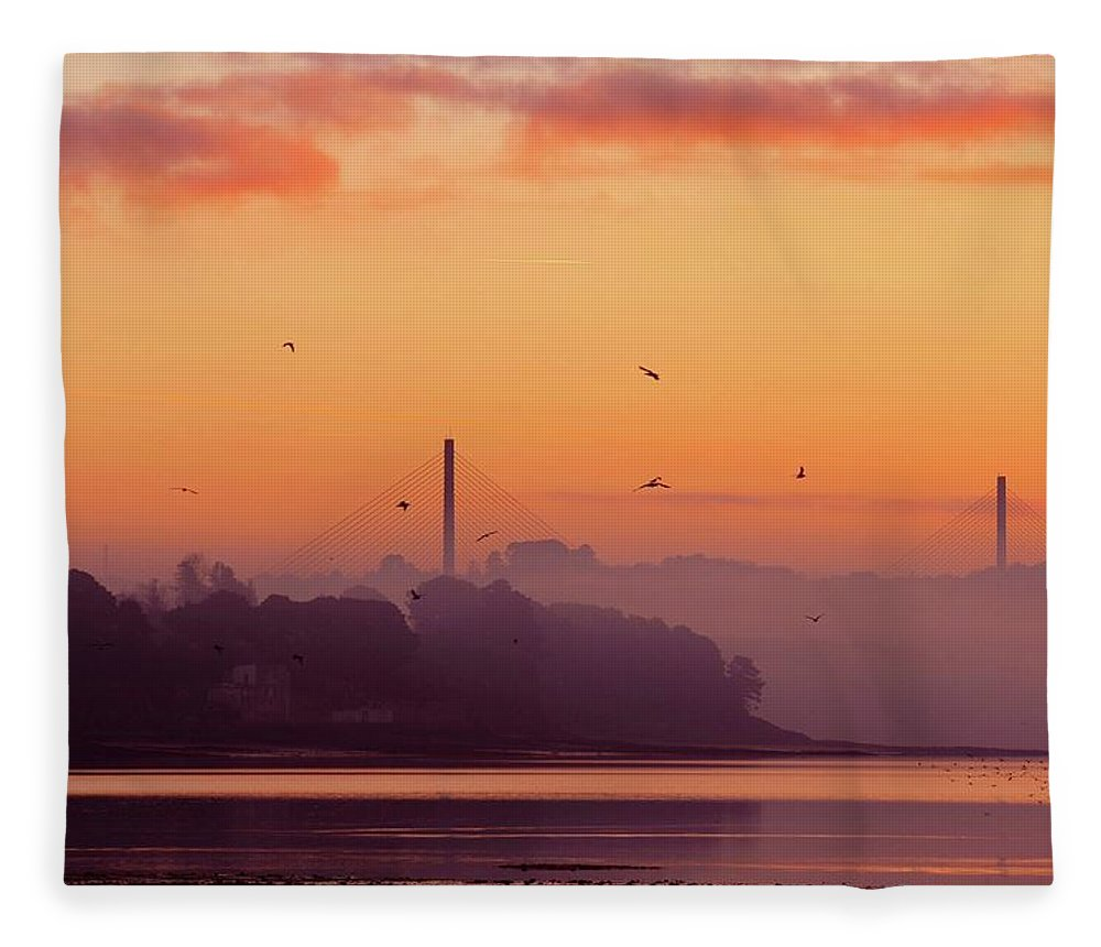 Scenics Fleece Blanket featuring the photograph Sunrise by All Images Taken By Keven Law Of London, England.