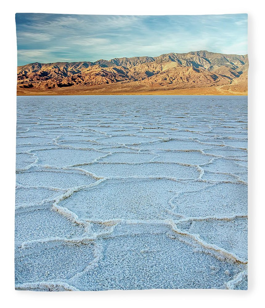 Scenics Fleece Blanket featuring the photograph Sunrise At Badwater, Death Valley by Pierre Leclerc Photography