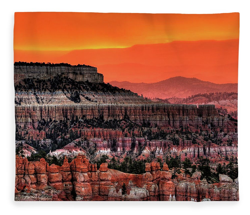 Scenics Fleece Blanket featuring the photograph Sunrise At Bryce Canyon by Photography Aubrey Stoll