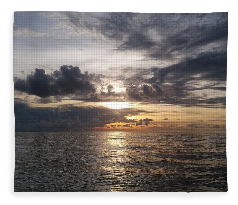 Sunset Fleece Blanket featuring the photograph Sunset by Cora Jean Jugan