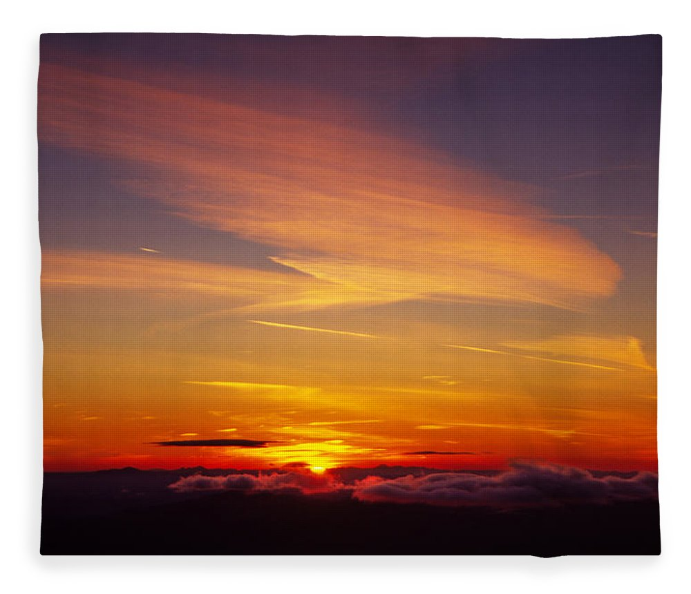 The End Fleece Blanket featuring the photograph Sunset Near Taos, New Mexico, Usa by Diane Miller