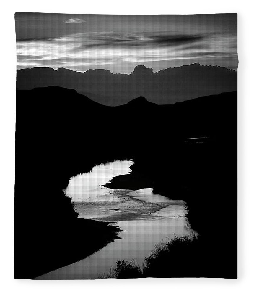 Scenics Fleece Blanket featuring the photograph Sunset Over The Rio Grande by Kim Kozlowski Photography, Llc