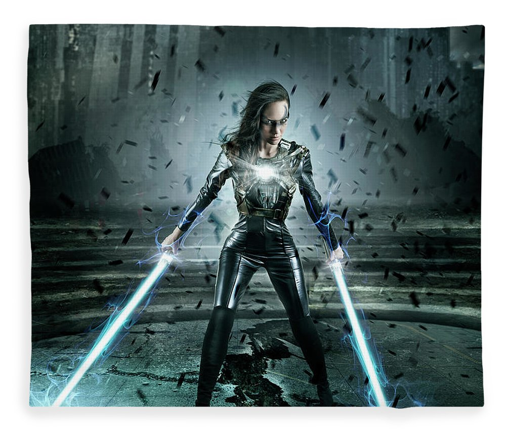 People Fleece Blanket featuring the photograph Superhero Character by Colin Anderson