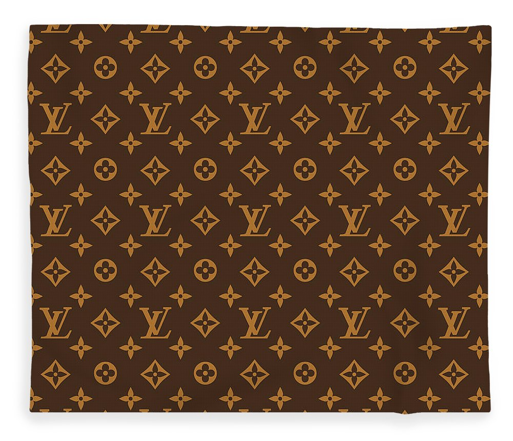 Supreme Fleece Blanket featuring the digital art Supreme pattern louis vuitton brown by Supreme Ny