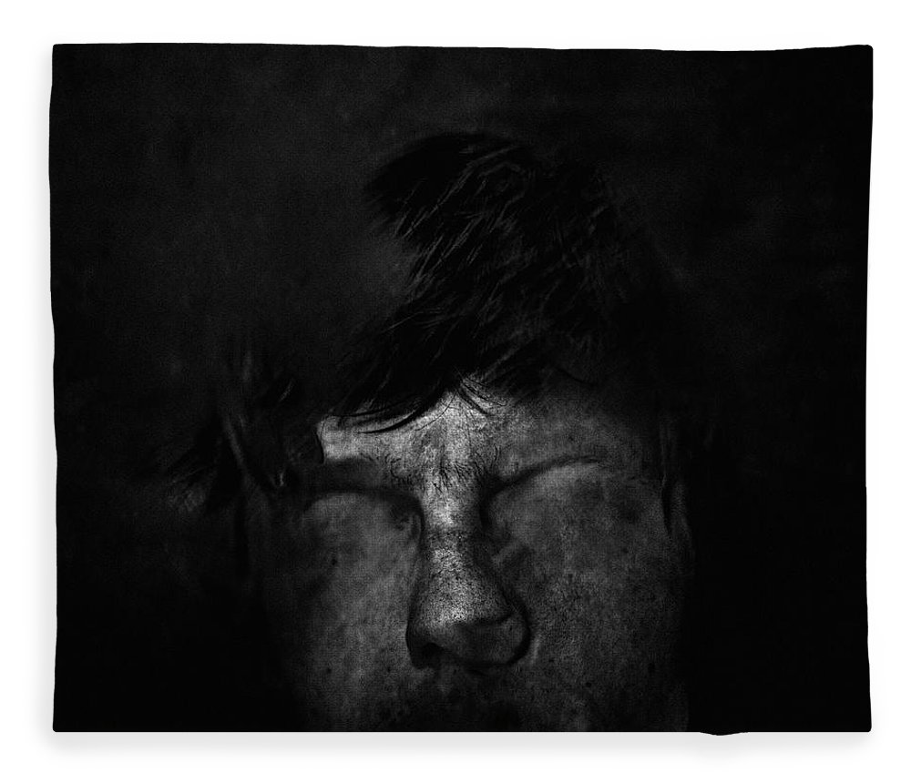 People Fleece Blanket featuring the photograph Sweden, Stockholm, Distorted Face by Win-initiative