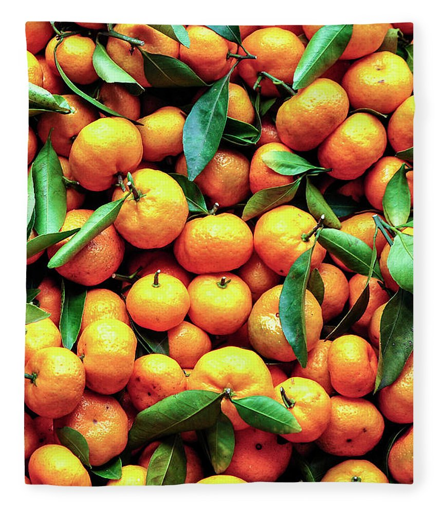 Orange Fleece Blanket featuring the photograph Sweet Oranges by Gabriel Perez