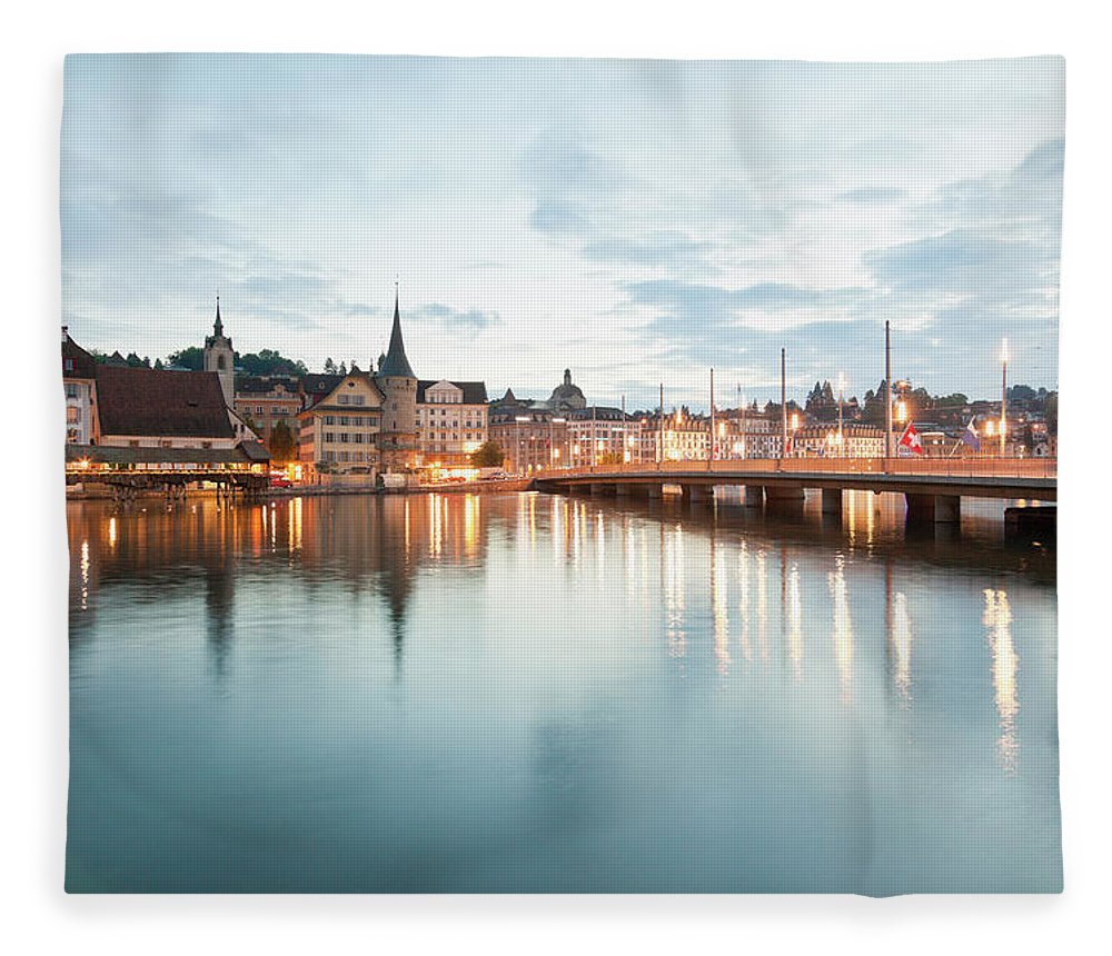 Dawn Fleece Blanket featuring the photograph Switzerland, Lucerne, View Of by Westend61