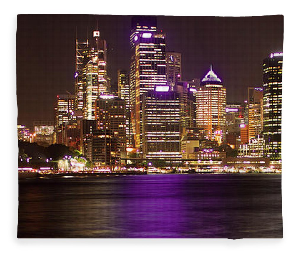 Panoramic Fleece Blanket featuring the photograph Sydney In Bronze by Capturing The Beauty Around Us, One Chapter At A Time...