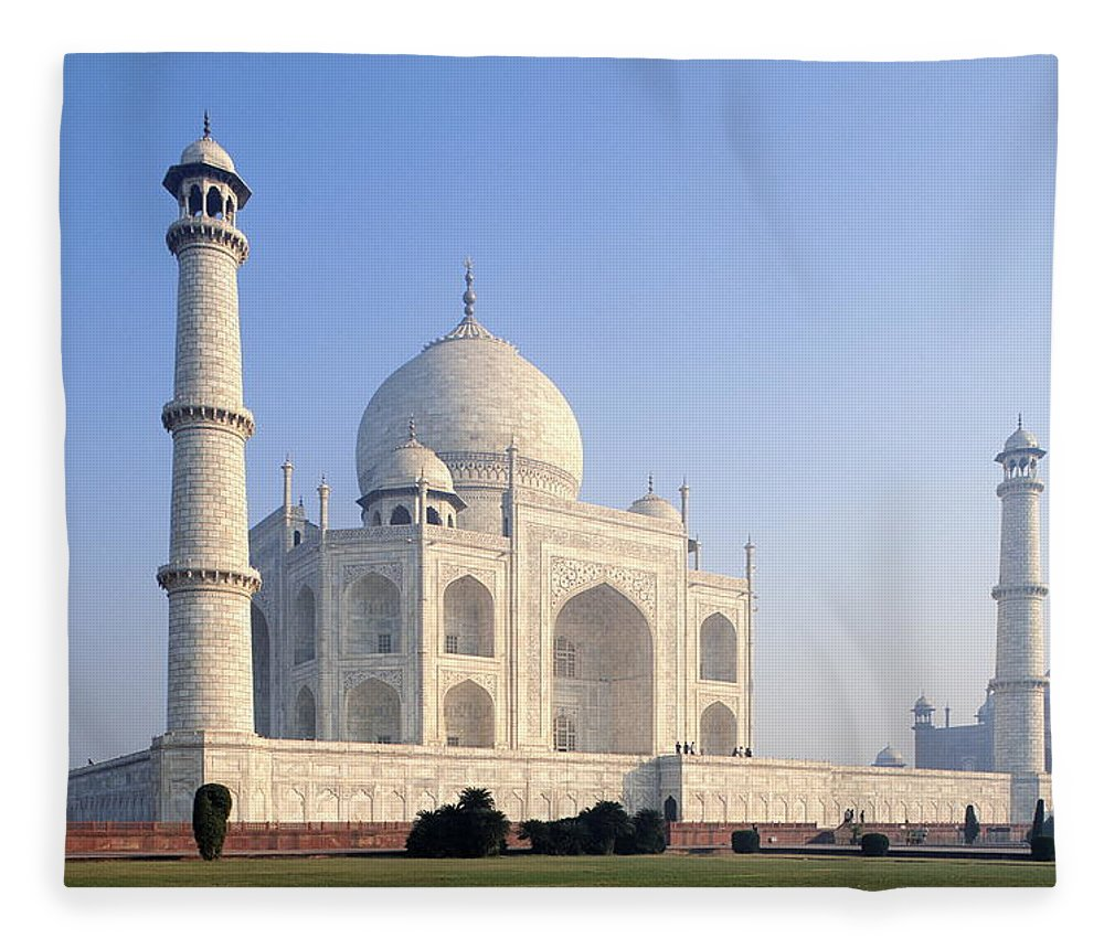 Scenics Fleece Blanket featuring the photograph Taj Mahal, Agra, Uttar Pradesh, India by Frans Lemmens