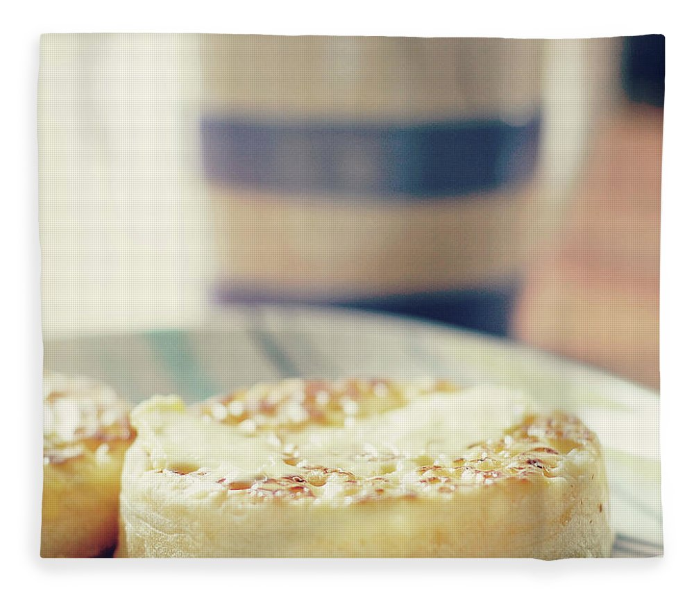 Healthy Eating Fleece Blanket featuring the photograph Tea And Crumpets by Deborah Slater