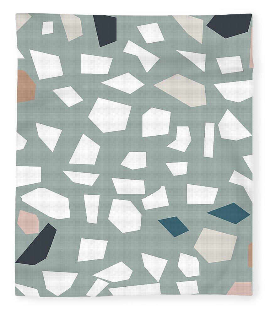 Terrazzo Fleece Blanket featuring the digital art Terrazzo 1- Art By Linda Woods by Linda Woods