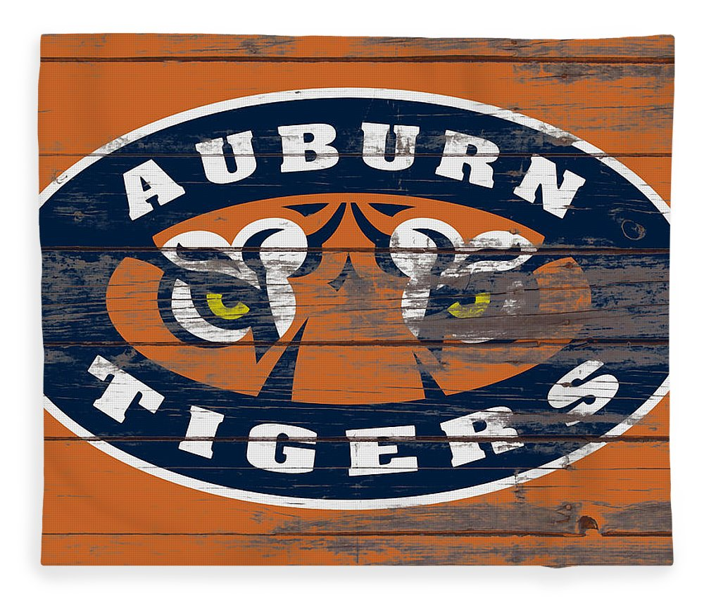 Auburn Tigers Fleece Blanket featuring the mixed media The Auburn Tigers 5b by Brian Reaves