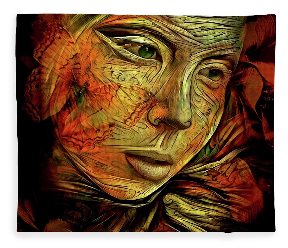 Flora Fleece Blanket featuring the mixed media The Future Is Only A Dream by G Berry