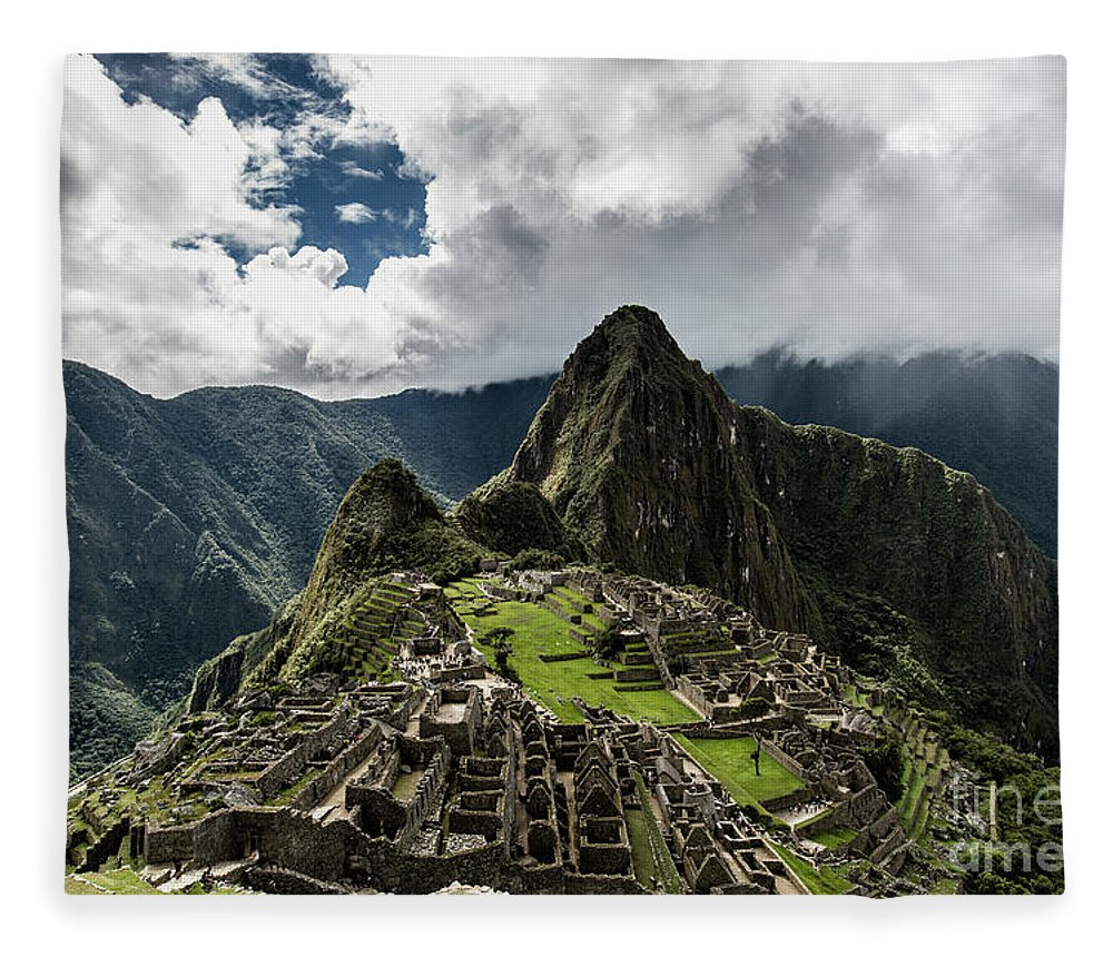 Scenics Fleece Blanket featuring the photograph The Inca Trail, Machu Picchu, Peru by Kevin Huang