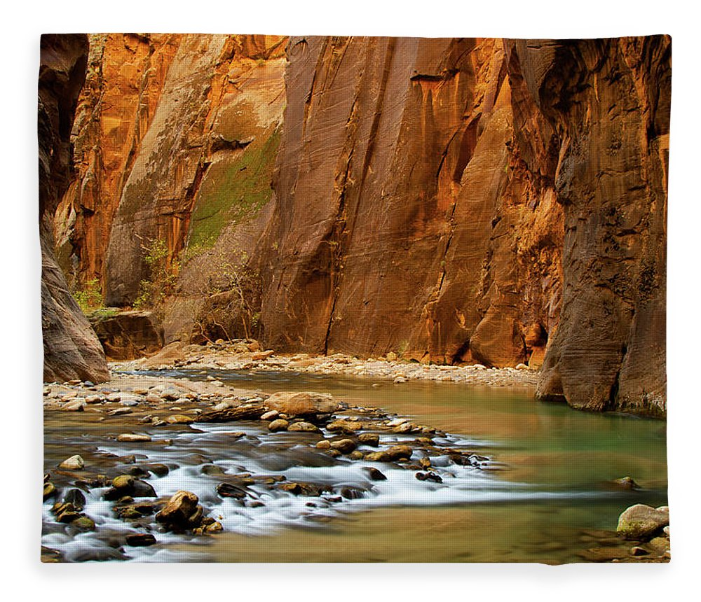 Zion Narrows Fleece Blanket featuring the photograph The Narrows by Beklaus