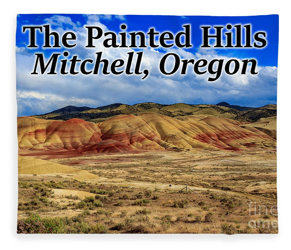 Painted Hills Fleece Blanket featuring the photograph The Painted Hills Mitchell Oregon 02 by G Matthew Laughton