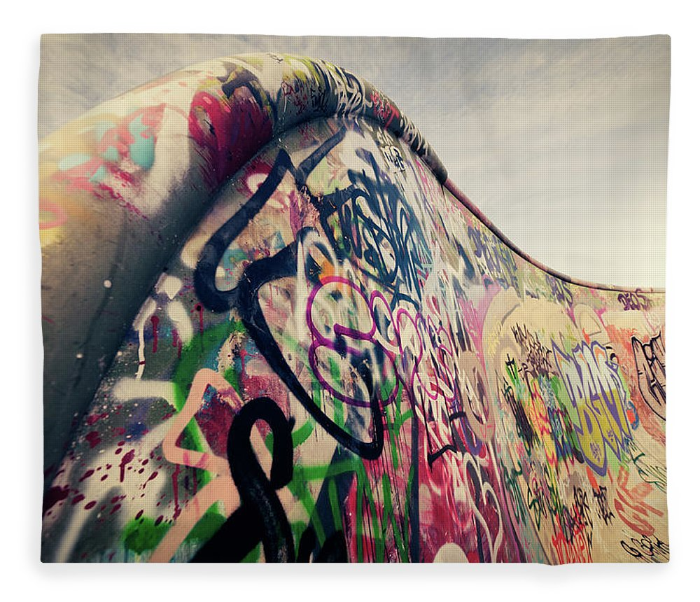 Orange Color Fleece Blanket featuring the photograph The Ramp by Ppampicture