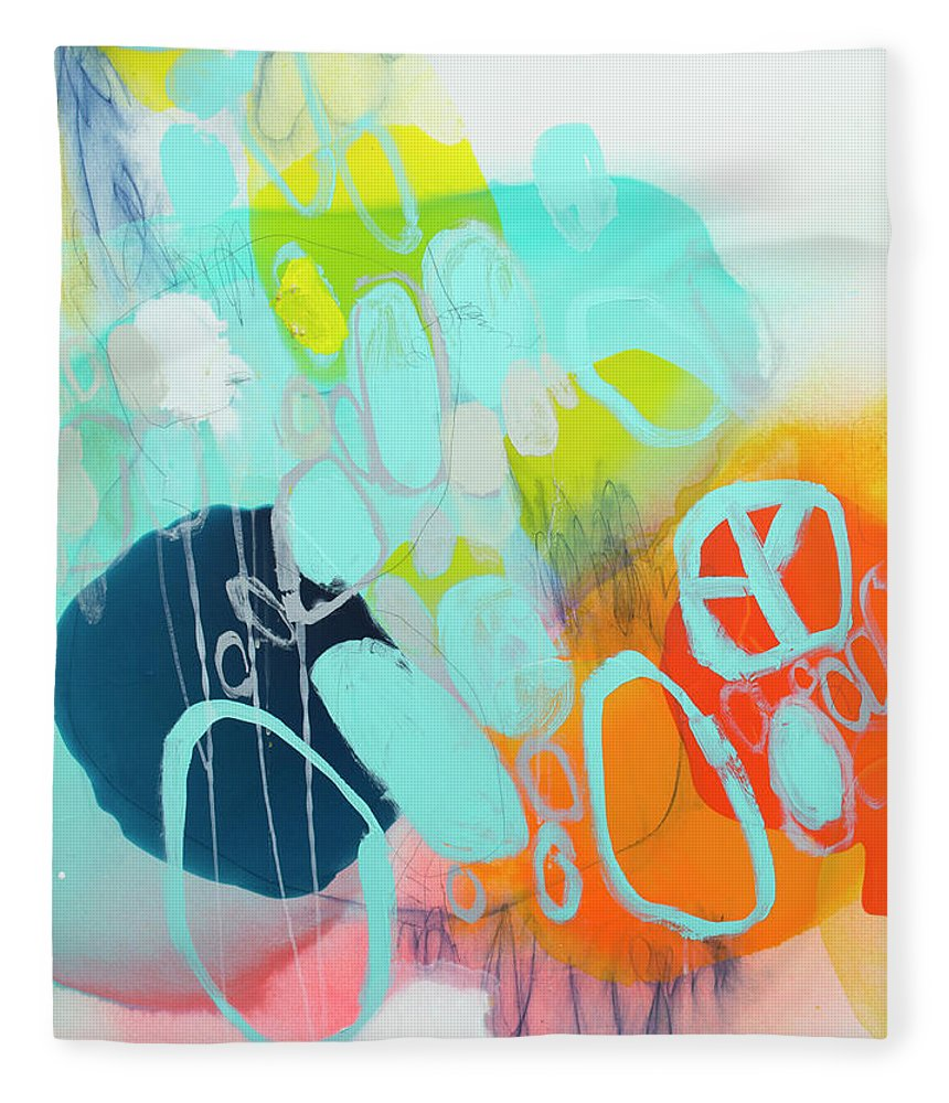 Abstract Fleece Blanket featuring the painting The Right Thing by Claire Desjardins