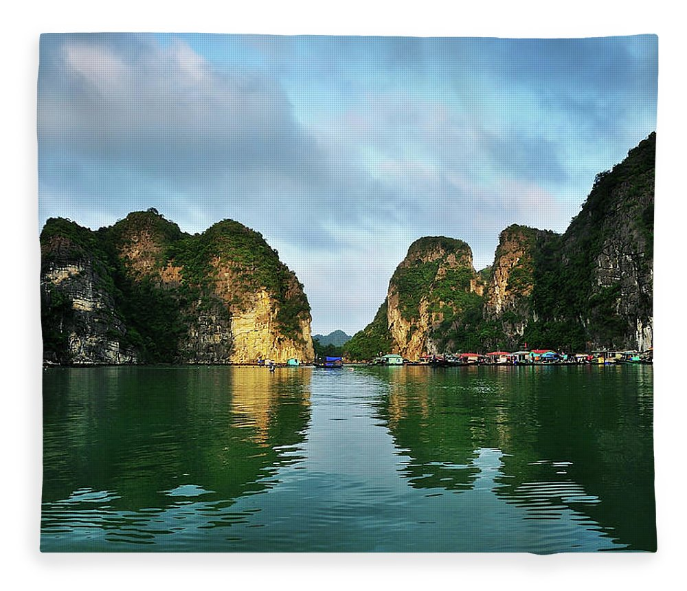Scenics Fleece Blanket featuring the photograph The Scenic Of Halong Bay by Photo By Sayid Budhi
