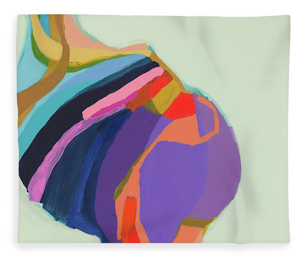 Abstract Fleece Blanket featuring the photograph The Waiting Game by Claire Desjardins