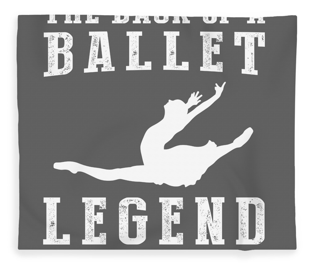 This Is Fleece Blanket featuring the digital art This Is What The Back Of A Ballet Legend Looks Like by Do David