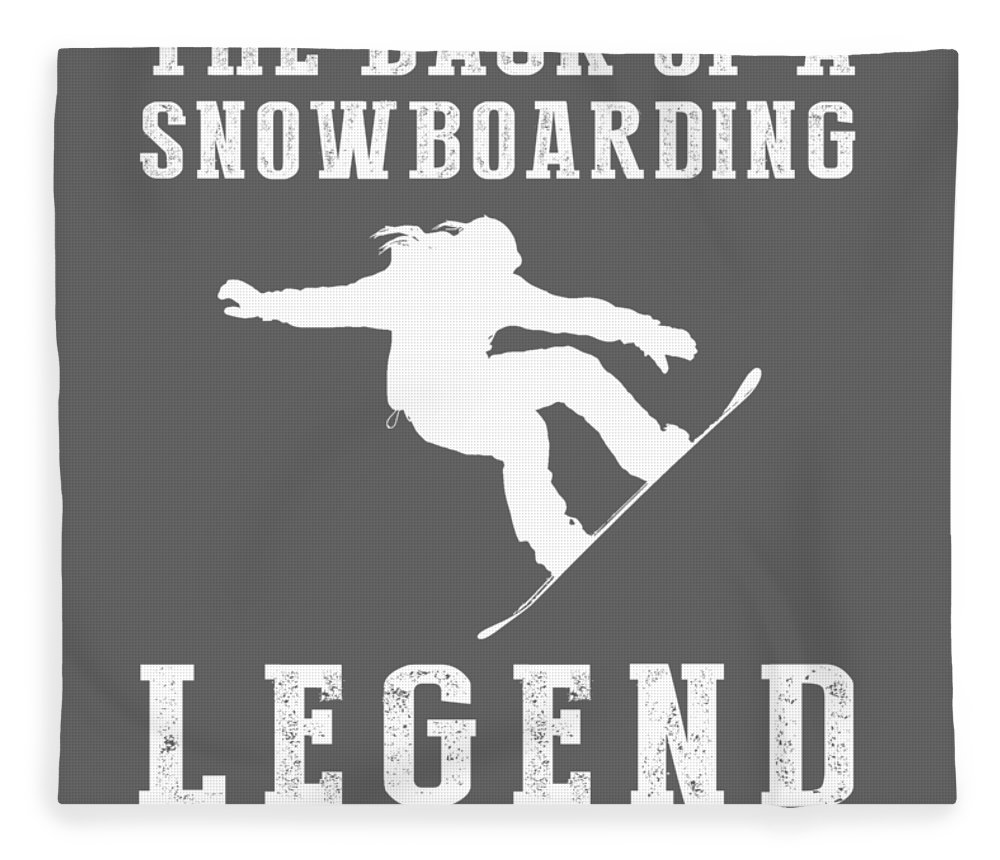 This Is Fleece Blanket featuring the digital art This Is What The Back Of A Snowboard Legend Looks Like by Do David