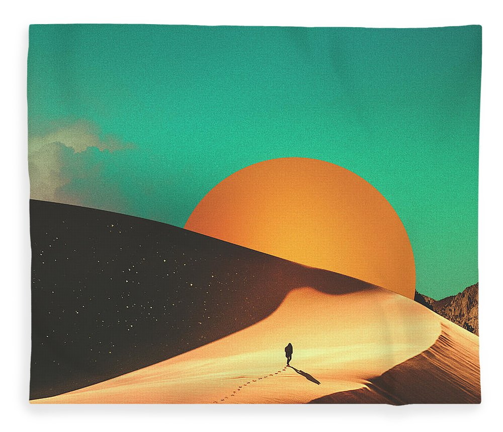 Collage Fleece Blanket featuring the digital art Thrist by Fran Rodriguez