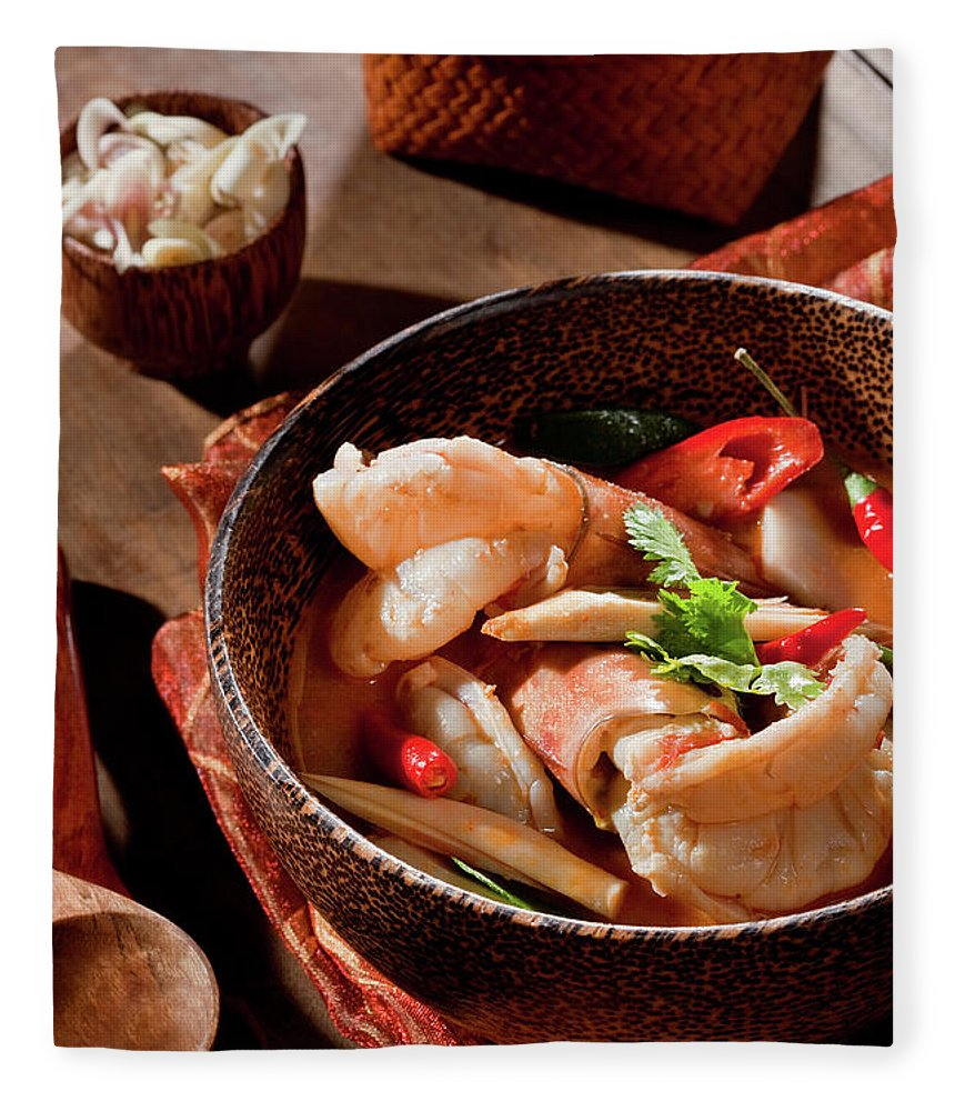 Asian And Indian Ethnicities Fleece Blanket featuring the photograph Tom Yum Kung by Shutterworx