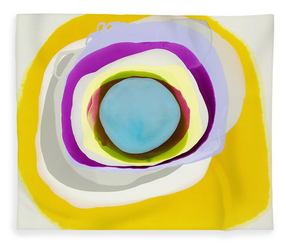 Abstract Fleece Blanket featuring the photograph Tranquil by Claire Desjardins