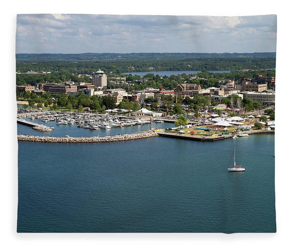 Lake Michigan Fleece Blanket featuring the photograph Traverse City, Michigan by Ct757fan