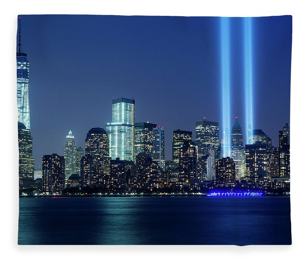 Tranquility Fleece Blanket featuring the photograph Tribute In Lights by Nathan Blaney