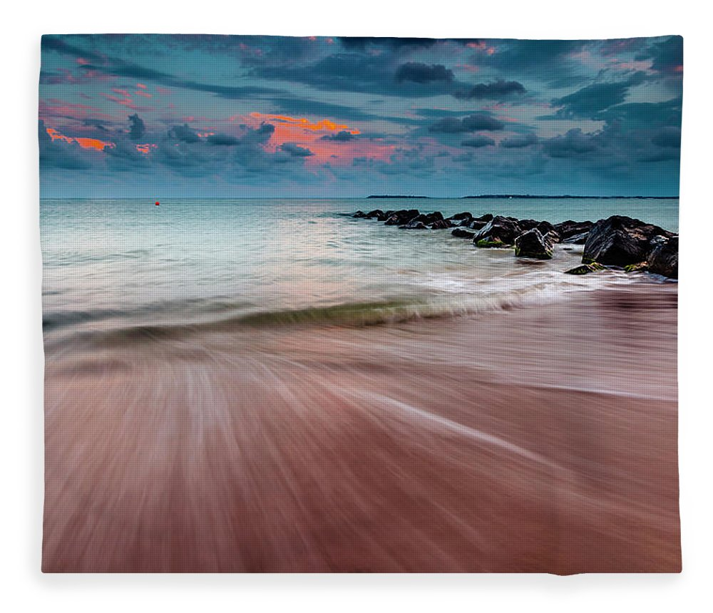 Beach Fleece Blanket featuring the photograph Tropic Sky by Evgeni Dinev