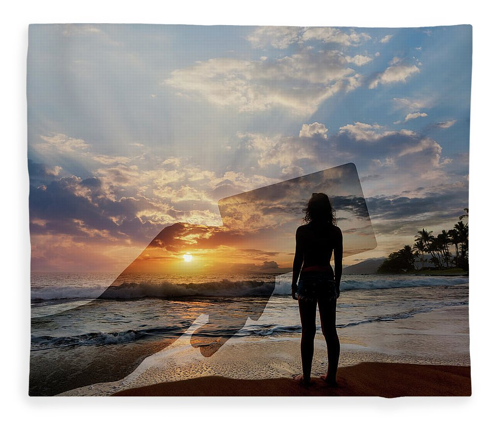 Tranquility Fleece Blanket featuring the photograph Tropical Vacation Solitude by John Lund