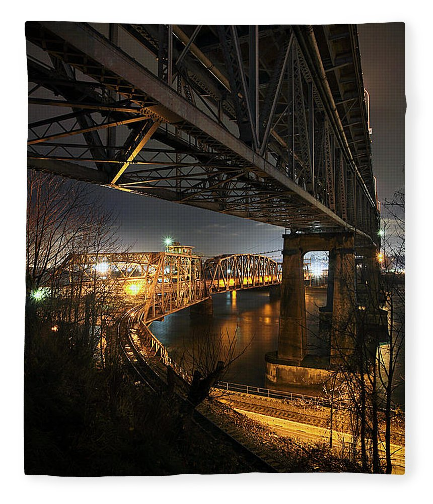 Built Structure Fleece Blanket featuring the photograph Underbelly by Kevin Van Der Leek Photography