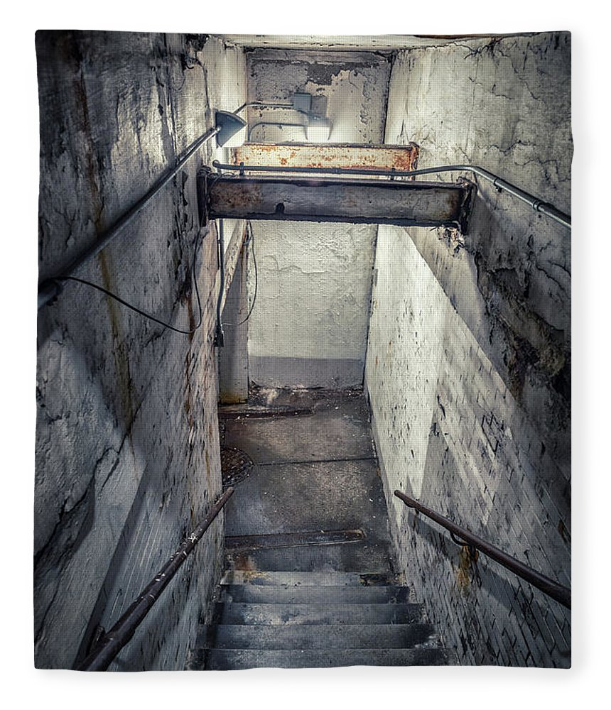 Stairway Fleece Blanket featuring the photograph Underworld by Bruno Passigatti