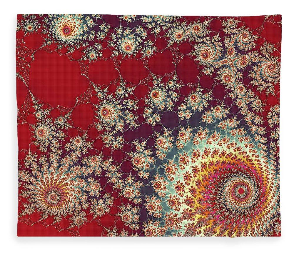 Art Fleece Blanket featuring the digital art Unity by Ester McGuire