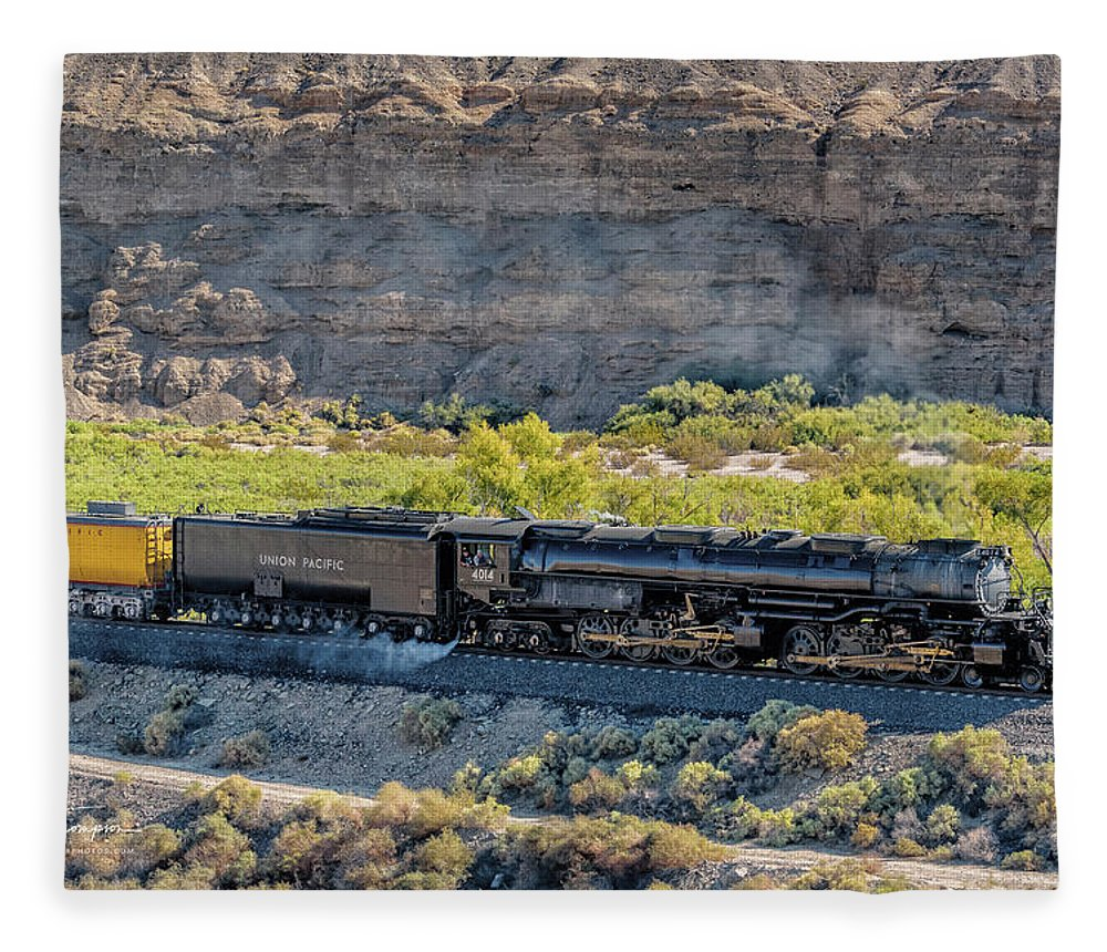 Afton Canyon Fleece Blanket featuring the photograph Up4014 Big Boy 1 by Jim Thompson